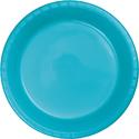 Bermuda Blue Plastic Dessert Plates