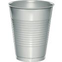 Silver Gray Plastic Beverage Cups - 16 oz