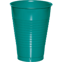 Teal Plastic Beverage Cups - 12 oz