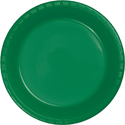 Emerald Green Plastic Banquet Dinner Plates