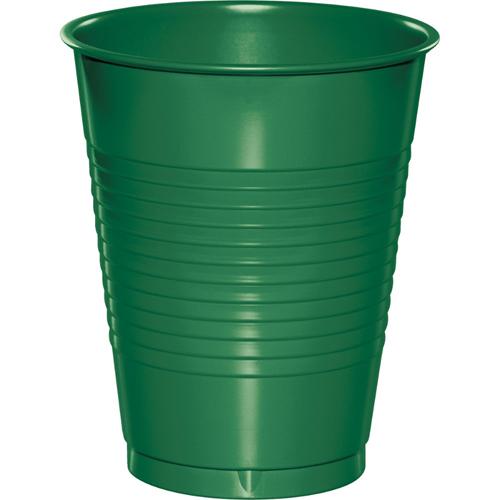 Emerald Green Plastic Beverage Cups - 16 oz