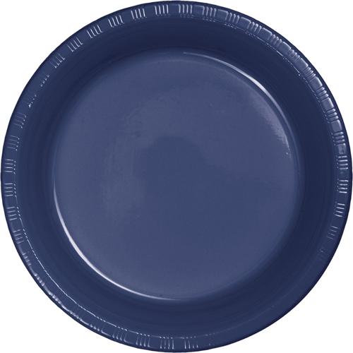 Navy Blue Plastic Dessert Plates
