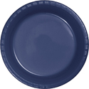 Navy Blue Plastic Luncheon Plates