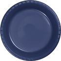Navy Blue Plastic Banquet Dinner Plates