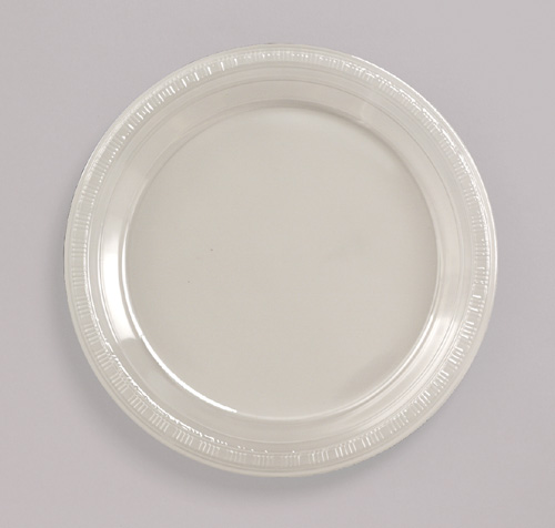 Clear Plastic Banquet Dinner Plates