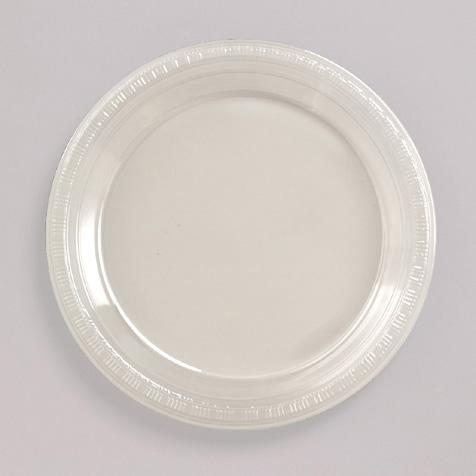 Clear Plastic Banquet Dinner Plates - Bulk