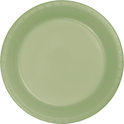 Sage Green Plastic Luncheon Plates