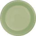 Sage Green Plastic Banquet Dinner Plates
