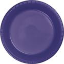 Purple Plastic Luncheon Plates