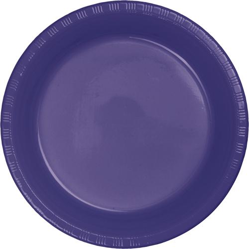 Purple Plastic Banquet Dinner Plates
