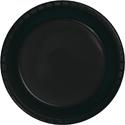 Black Plastic Luncheon Plates - Bulk