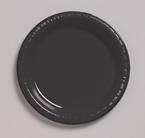 Black Plastic Banquet Dinner Plates