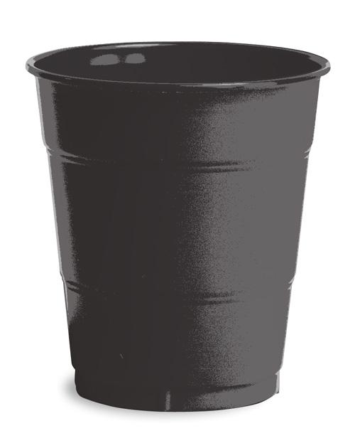 Black Plastic Beverage Cups - 12 Ounce