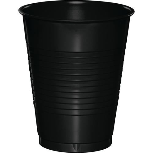 Black Plastic Beverage Cups - 16 oz