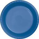 True Blue Plastic Banquet Dinner Plates - Bulk