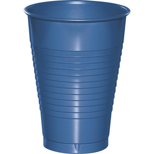 True Blue Plastic Beverage Cups - 12 oz