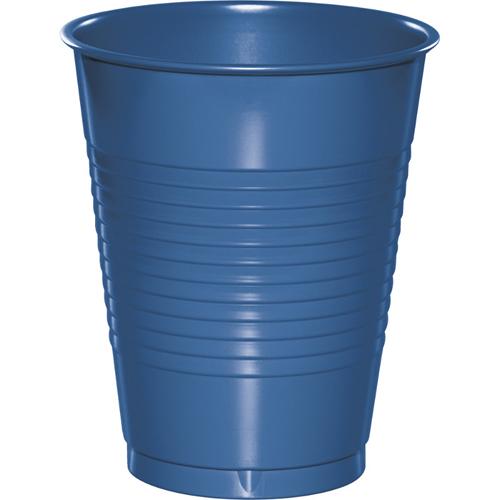 True Blue Plastic Beverage Cups - 16 oz