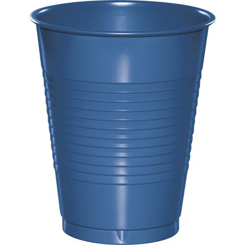 True Blue Plastic Beverage Cups - 16 oz Bulk