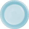 Pastel Blue Plastic Banquet Dinner Plates