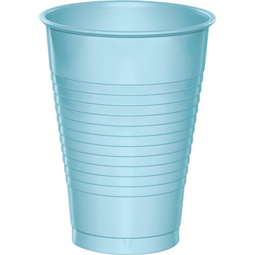 Pastel Blue Plastic Beverage Cups - 12 oz