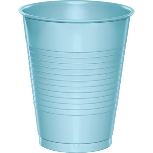 Pastel Blue Plastic Beverage Cups - 16 oz Bulk