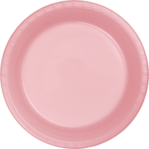 Pink Plastic Dessert Plates