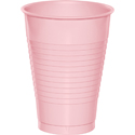 Pink Plastic Beverage Cups - 12 oz