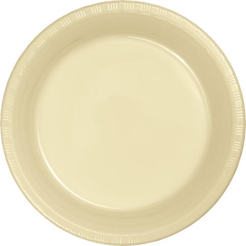 Ivory Plastic Banquet Dinner Plates