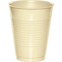 Ivory Plastic Beverage Cups - 16 oz