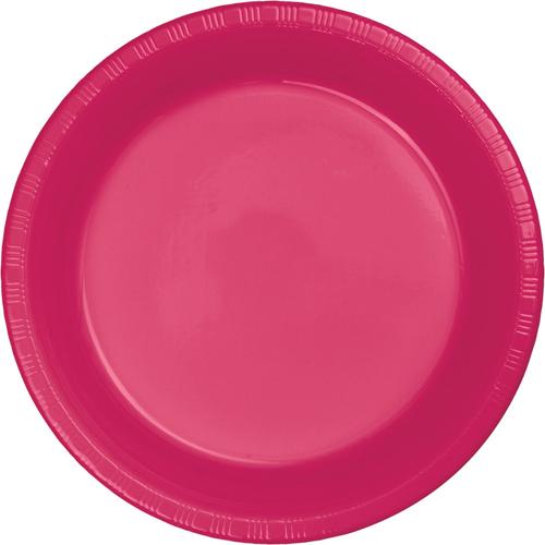 Magenta Plastic Banquet Dinner Plates