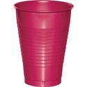 Magenta Plastic Beverage Cups - 12 oz