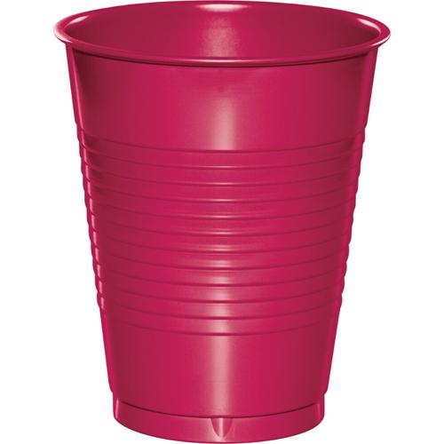 Magenta Plastic Beverage Cups - 16 oz