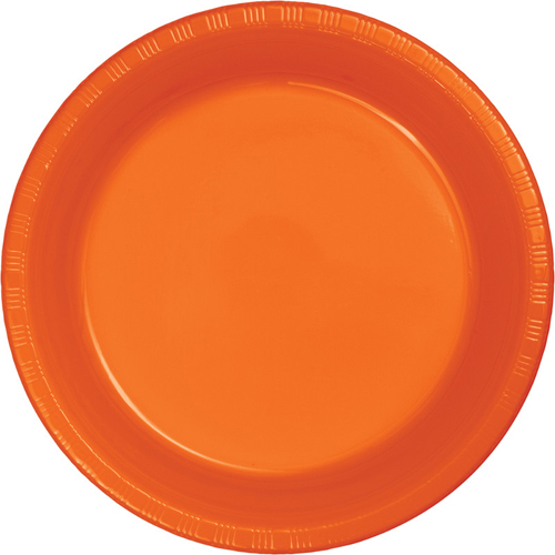 Sunkissed Orange Plastic Luncheon Plates