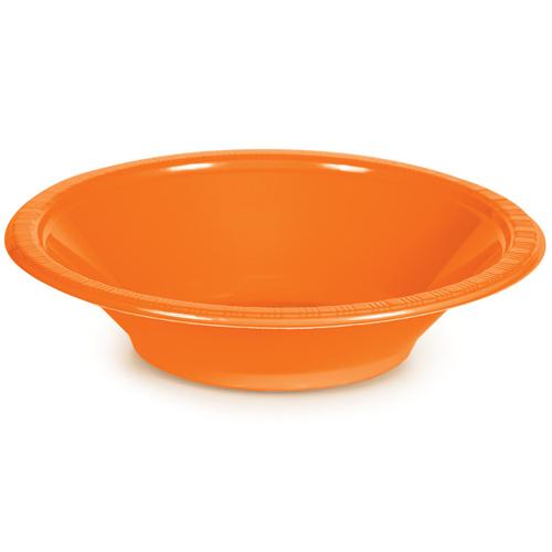 Sunkissed Orange Plastic Bowls