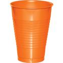 Sunkissed Orange Plastic Beverage Cups - 12 oz