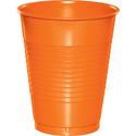 Sunkissed Orange Plastic Beverage Cups - 16 oz Bulk