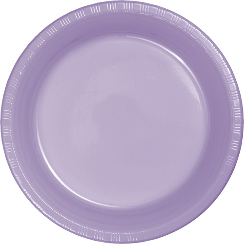 Lavender Plastic Banquet Dinner Plates