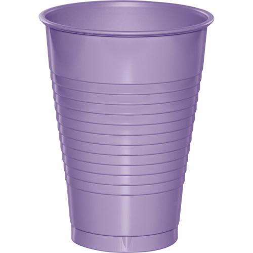 Lavender Plastic Beverage Cups - 12 oz