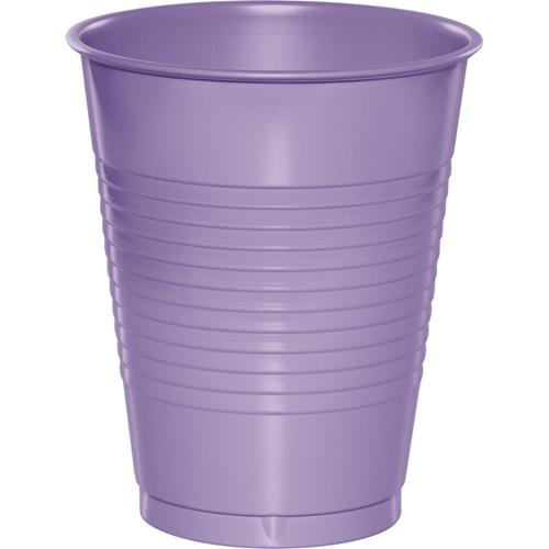 Lavender Plastic Beverage Cups - 16 oz
