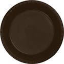 Chocolate Brown Plastic Dessert Plates
