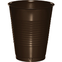 Chocolate Brown Plastic Beverage Cups - 16 oz
