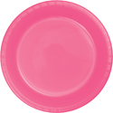 Candy Pink Plastic Banquet Dinner Plates