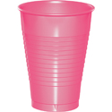 Candy Pink Plastic Beverage Cups - 12 oz