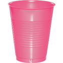Candy Pink Plastic Beverage Cups - 16 oz
