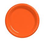 Bittersweet Orange Plastic Dessert Plates
