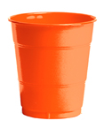 Bittersweet Orange Plastic Beverage Cups - 12 oz