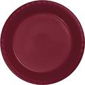 Burgundy Plastic Luncheon Plates