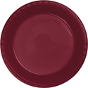 Burgundy Plastic Banquet Dinner Plates