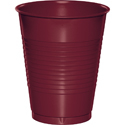Burgundy Plastic Beverage Cups - 16 oz
