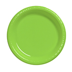 Lime Green Plastic Luncheon Plates